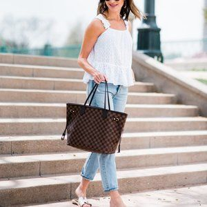 LOUIS VUITTON Neverfull Canvas Tote M40995